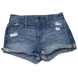 Abercrombie cuffed distressed women's jeans shorts